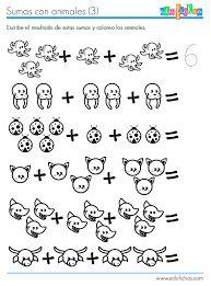 Resultado de imagen para ejercicios para trabajar sumas para niños de primer grado