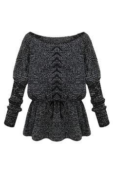 Drawstring Flouncing Knitted Jumper 24.60