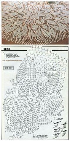 Ideas Crochet Coasters Table Runners Doily Patterns For 2019 Crochet Tablecloth Pattern, Free Crochet Doily Patterns, Crochet Doily Diagram, Crochet Mandala, Crochet Art, Thread Crochet, Filet Crochet, Crochet Motif, Crochet Designs