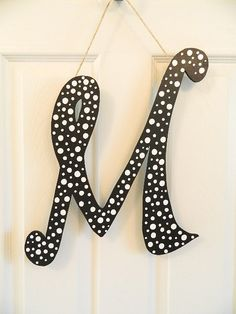 Hanging Monogram  Letter M by BellaFrog on Etsy, $21.00