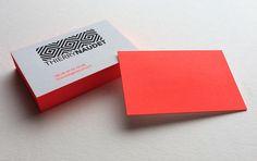 Print : Badcass - Carte de visite en letterpress - #débossage #pantone #fluo