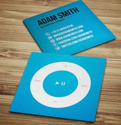 mini square business cards for musicians. good idea! Find more Business Card Templates for musicians at http://www.cardsmadeeasy.com/musician