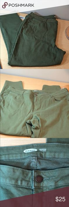 """d952b9fead NWT old navy olive super skinny stretch jeans New. Waist is 21"""""""