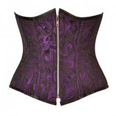 GE-373 - Purple and Black Candy Brocade Underbust - Buy One get One Free
