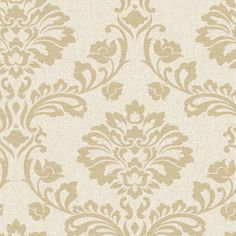 Graham Amp Brown Gold Paper Damask Wallpaper Lowes Silver