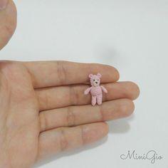 Micro amigurumi bear 0.85 inch dollhouse teddy bear by MiniGio