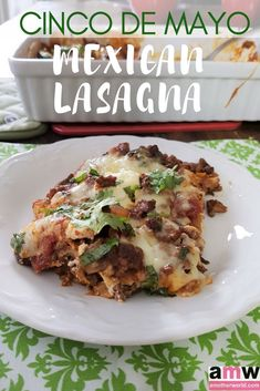 Cinco de Mayo Mexican Lasagna | amotherworld | www.amotherworld.com Easy Pasta Recipes, Easy Chicken Recipes, Pasta Ideas, Meat Recipes, Yummy Recipes, Mexican Lasagna Recipes, Mexican Dishes, Quesadillas, Vegetarian Dinners