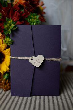 Kraft Paper Trifold Wedding Invitation