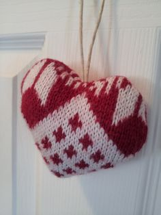 Heart ornament made from upcycled sweater by sewaGaingirls on Etsy, $3.00