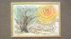 """Exposição Grupo Iluminuras - BCH (Quadro bordado à mão). Tema baseado na obra """"O Quinze"""", da escritora Rachel de Queiroz."""