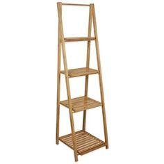 Foldable Bamboo Ladder Shelf - BedBathandBeyond.com