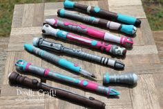 Doodle Craft...: Doctor Who Week #5: Sonic Screwdriver DIY! My problem with this tutorial is it calls for polymer clay. I'm not a crafting expert but I'd like something that doesn't require the crafters to take home and bake themselves. Any alternatives?