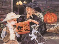 Steve Hanks ~ amazing watercolor artist ~ Halloween