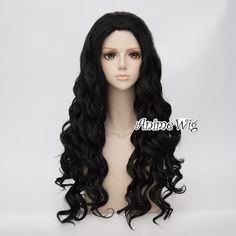 Synthetic None-lacewigs 65cm Long Wavy Black Mixed Blonde Lolita Girls Fashion Cosplay Full Wig+wig Cap Heat Resistant Good Reputation Over The World