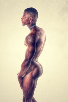 boys nude black slim
