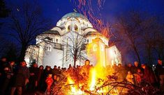 It is Orthodox Cristmas Eve in Serbia! Photo credits: Serbia Places to Know Access Our Site Much More Information Red Star Belgrade, Serbia Travel, Belgrade Serbia, Place Of Worship, Serbian, Photo Credit, Mount Rushmore, Dan, Religion