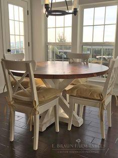round farmhouse table ideas in 2019 for the home farmhouse rh pinterest com