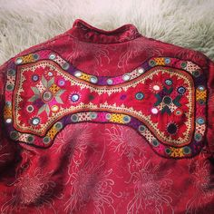 """""""From my private collection- #vintage #Chinese #jacket with #Indian #mirror #embroidery"""""""