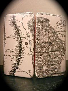 Lord of the Rings Book Page Wallet with Double Page Map by TheNerdBoutique, $30.00  Great holiday gift idea for a lover of Tolkien's amazing work!
