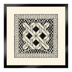 The Pretty Pantile Black Small Tile I Wall Art