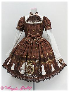 Angelic Pretty Chess Chocolate onepiece (one I'd really like to own, in aqua or brown)