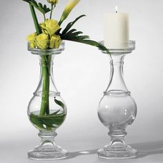 Abeline Glass Candle Holder and Vase frontgate
