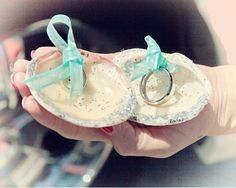 Click Pic for 26 DIY Beach Wedding Ideas | Tie your Wedding Rings into Seashells | Beach Theme Wedding Decorations