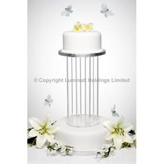 Crystal clear acrylic four tube waterproof cake separator 100mm