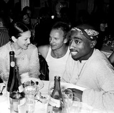 Madonna, Sting, and Tupac Shakur, hanging out together in 1994
