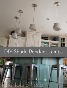Curbly is a clearing house of DIY projects out there on the web, so I like to check out what she's posted from time to time. credit: Tatertots & Jello [http://tatertotsandjello.com/2012/01/make-diy-pendant-lights-kitchen-remodel-project.html]