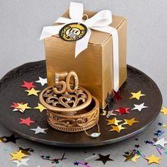 Portagioie 50° anniversario color oro