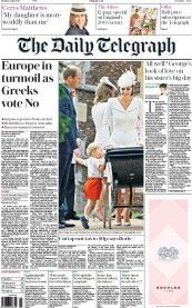 The Christening of Princess Charlotte - UK Front pages Duke And Duchess, Duchess Of Cambridge, Cerys Matthews, Floral Fascinators, The Daily Telegraph, White Gold Diamond Earrings, Lady Diana Spencer, The Little Prince, Princess Charlotte