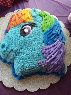 Rainbow Dash cake for Kayla's 6th birthday