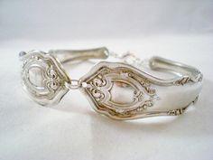 Vintage Jewelry, Silverware Spoon Bracelet