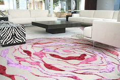 3-D carpet by Top Floor Founder and Design Director Esti Barnes