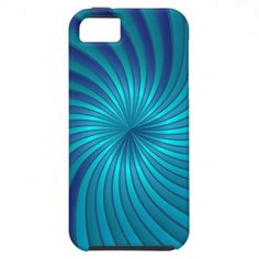 iPhone 5 Case blue spiral vortex by Medusa81  $44.95