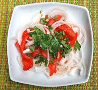 Ensalada Chilena - Onion & Tomato ChileanSalad (I make this with o.o. and balsamic)