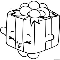 Gift Box Shopkins Season 4 Coloring Pages Printable And Book To Print For Free Find More Online Kids Adults Of