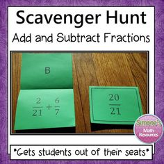 This activity gets students out of their seats. Students get to work at their own pace and think it's a game. They are highly motivated to complete a question since they can self check and get immediate feedback. Students will complete a problem and then look for the answer on top of a different card. Students can complete this in pairs, small groups, or individually. Can be used whole group or in a center. If you laminate the cards, they will stand up like tents on the desks. ...