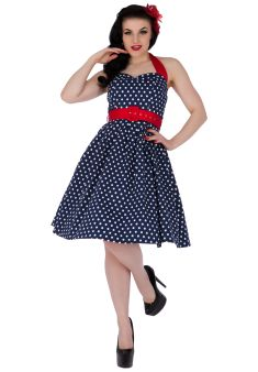 174603cec18 Sophie Two Toned Rockabilly 1950s Dress in Navy Red Rockabilly Pin Up
