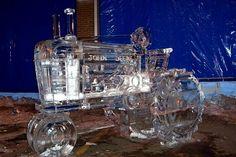 John Deere Ice Sculpture