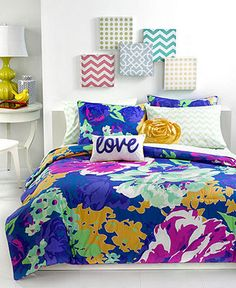 Teen Vogue Isabella Floral Comforter Sets - Bed in a Bag - Bed & Bath - Macy's