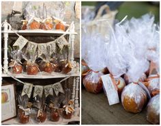 Candy Apple Favors - perfect for a fall wedding. Candy Apple Favors, Apple Wedding Favors, Wedding Desserts, Candy Apples, Wedding Candy, Barn Wedding Venue, Rustic Wedding, Our Wedding, Wedding Ideas