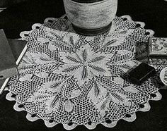 Frosted Ferns Doily Pattern