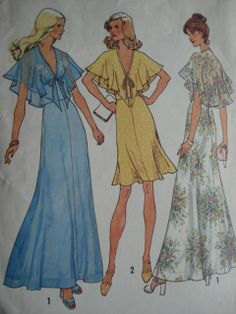 70's Dress- My mother had one similar to the blue dress.