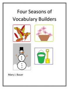 Four Seasons of Vocabulary Builders from Mary Bauer on TeachersNotebook.com -  (46 pages)  - This file is a bundle of the Fall, Winter, Spring, and Summer Vocabulary Builders.  Included in this file are 23 word lists, four types of sorting activities, and fifteen poetry forms.   $