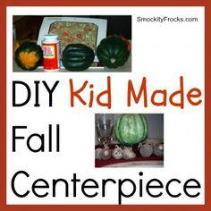 DIY Kid Made Fall Centerpiece