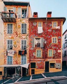 Illustrator, Mural Wall Art, Facade House, Modern Bohemian, Public Art, Curb Appeal, Exterior Design, Interior Architecture, Beautiful Homes