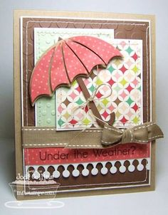Under the Weather Card, Get Well Soon Card, Feel Better Card, My Favourite Things (MFT) Umbrella Die & Monarch Border