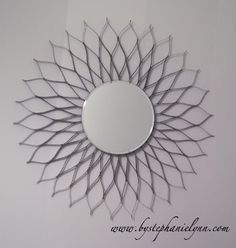 Recycled Cereal Box Sunburst Mirror